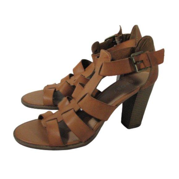 Shoes | Browntan Sandals Heels 11 Women